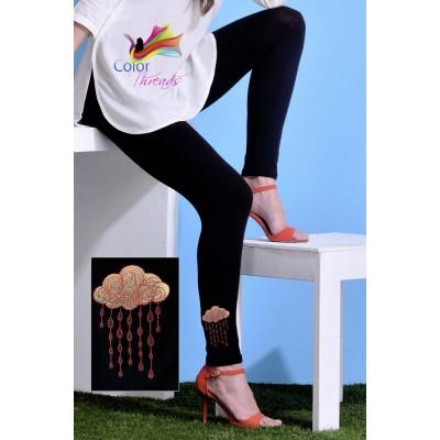 Bottom Embroidered Legging MLL0020