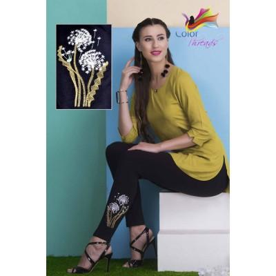 Bottom Embroidered Legging MLL0022