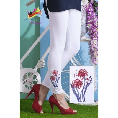 Bottom Embroidered Legging MLL0025