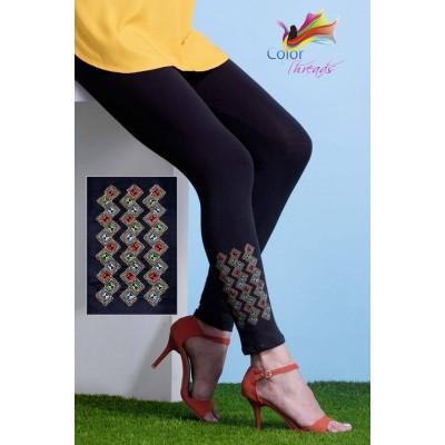 Bottom Embroidered Legging MLL0026
