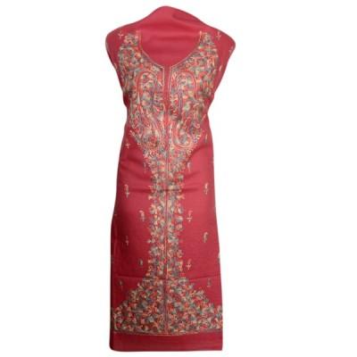 Kashmiri Aari Work Suit (Carrot Colour)