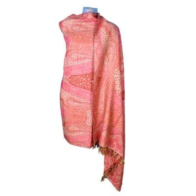 Jamawar Ladies Shawl (Rich Pink)