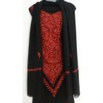 Kashmiri Georjette Suit with Dupatta (BLACK COLOR)