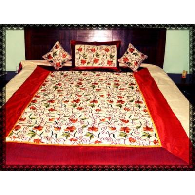 Kashmiri Dupion Bed Cover