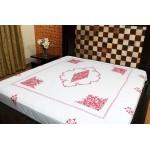 Kashmiri Aari Work Bed Sheet (MHDB08)