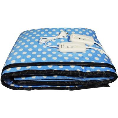 Electric Heating Blanket Double Bed (Blue Velvet)