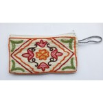 Purse with Crewel Embroidery