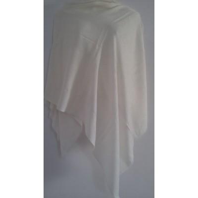 Self Stole Shawl (White Colour)