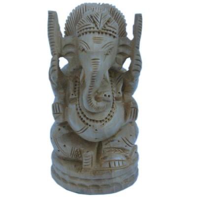 Fine Carved Lord Ganesha Design Wooden Gift