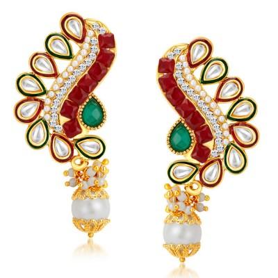 Fancy Peacock Gold Plated Australian Diamond Earrings