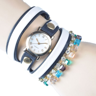 Bracelet Watch (Black and white strap)