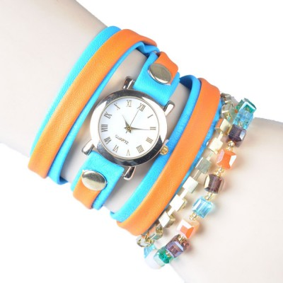Bracelet Watch (Orange and Blue strap)