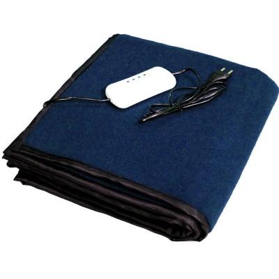 Electric Heating Blanket Single Bed (Navy Blue Fleece)